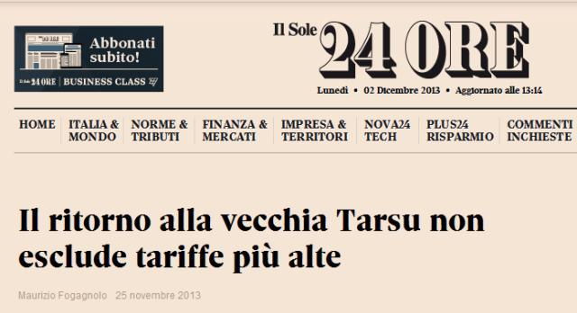 """Tassa sui Rifiuti. Aquilina sentenzia, la minoranza tace. Il Vicesindaco smentito da il """"Sole24ORE"""""""
