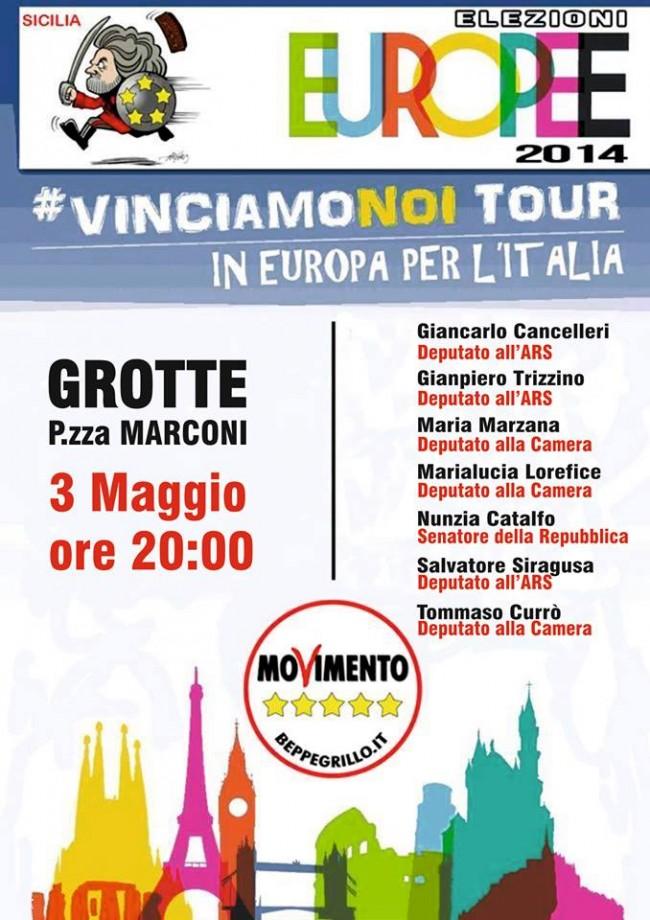 """Sabato a Grotte il """"VINCIAMO NOI TOUR"""""""