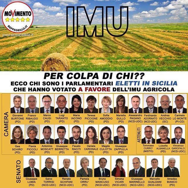 Approvata l imu agricola gli agricoltori ringraziano il for Elenco parlamentari pd