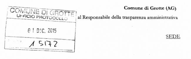 Grotte, immobili Comunali: Richiesta di accesso agli atti del Deputato regionale Matteo Mangiacavallo.